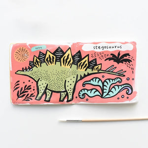 Wee Gallery Color Me - Who Loves Dinosaurs