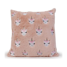 Load image into Gallery viewer, OMG Embroidered Unicorn Pink Throw Pillow