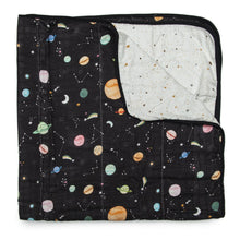 Load image into Gallery viewer, Loulou Lollipop Muslin Quilt Blanket - Planets