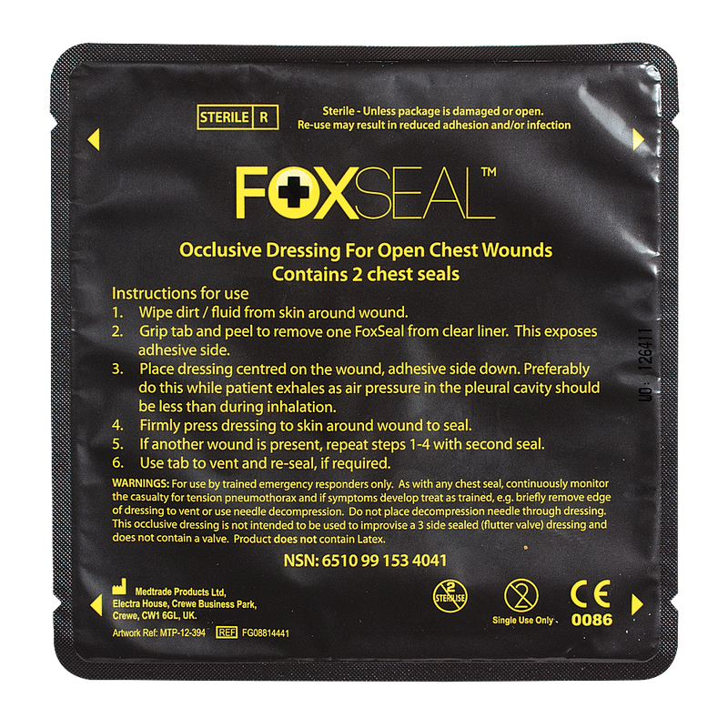 Voodoo Tactical Foxseal - Dressing For Open Chest Wounds
