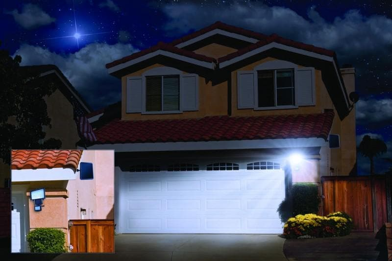 Nature Power 60 Intergrated LED Solar Powered Motion Activated Security Light - 22050