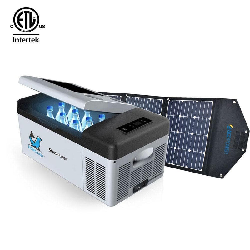 ACOPOWER LiONCooler X15A Portable Solar Fridge/Freezer and 90W Solar Panel - 16 Quarts