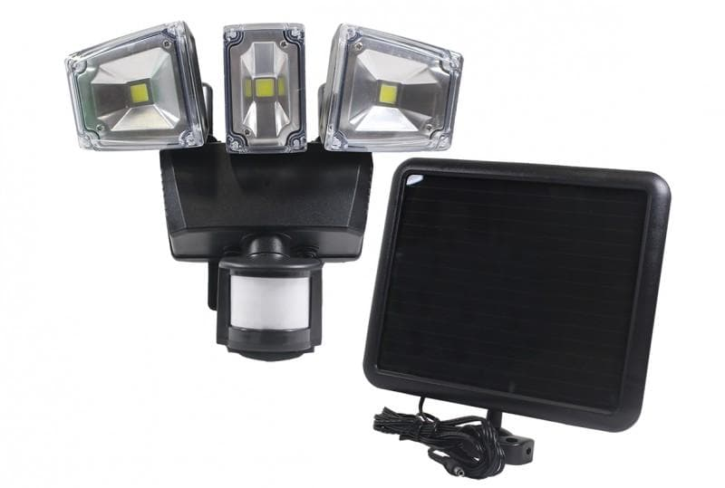 Nature Power Triple COB LED Solar Motion Activated Security Light - 22263