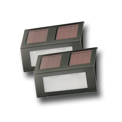 Nature Power Bronze Solar Powered Step Lights 2 Pack - 21060