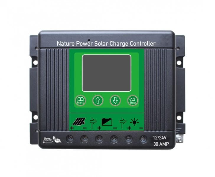 Nature Power 30 Amp Solar Charge Controller with LED for 12 Volt Systems - 60032
