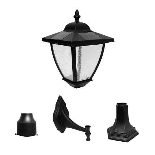 Nature Power Bayport 16 inch Solar Wall Lamp with 3 Mounting Options - 23206