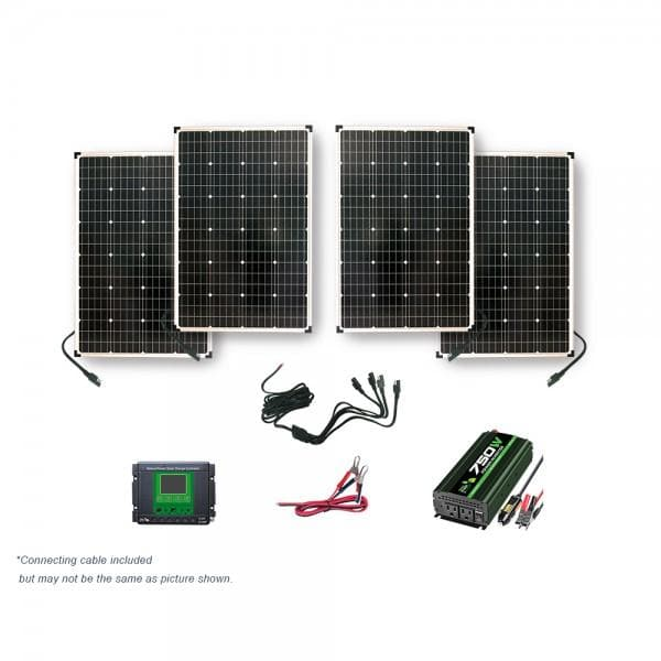 Nature Power 440 Watt Power Kit with 750 Watt Power Inverter and 30 Amp Charge Controller - 53440