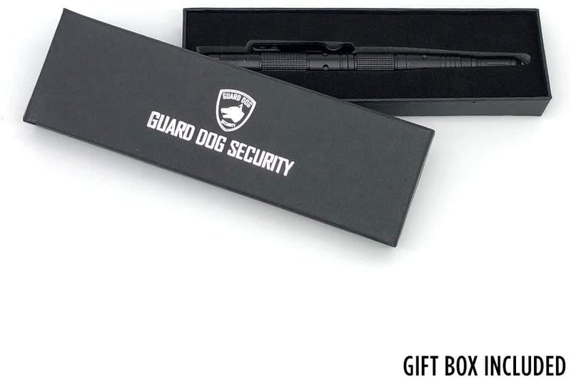 Guard Dog Security Tactical Pen with Tungsten Steel Pressure Tip and Flashlight