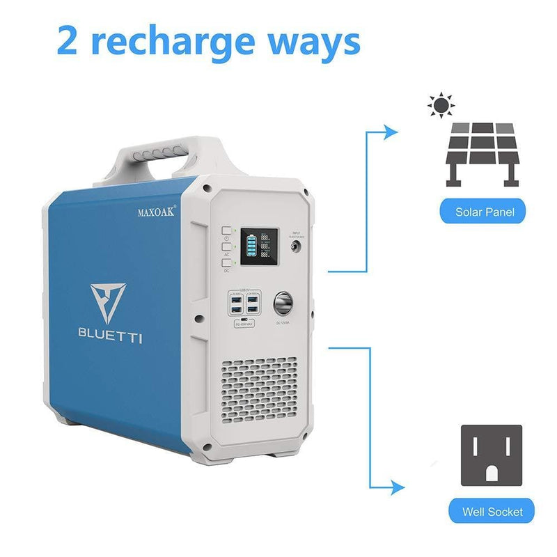 Ways to charge the MAXOAK Bluetti EB150 Portable Solar Generator