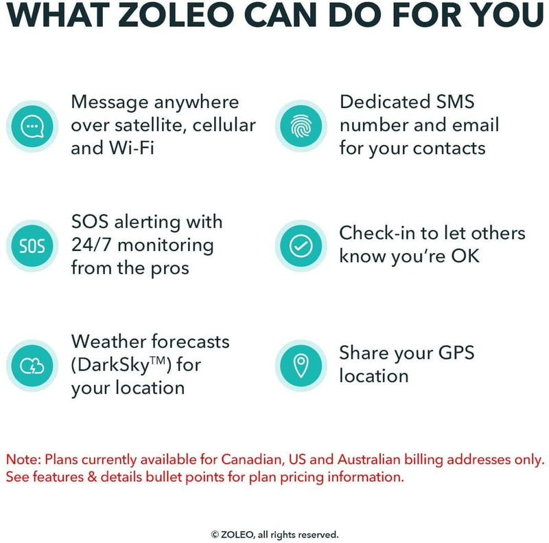 ZOLEO Satellite Communicator Details- Survival Gear Systems