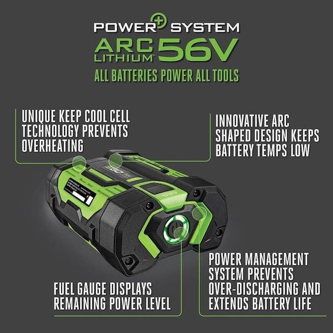 EGO Power+ 56-Volt 7.5Ah Rechargeable Lithium Battery with Fuel Gauge