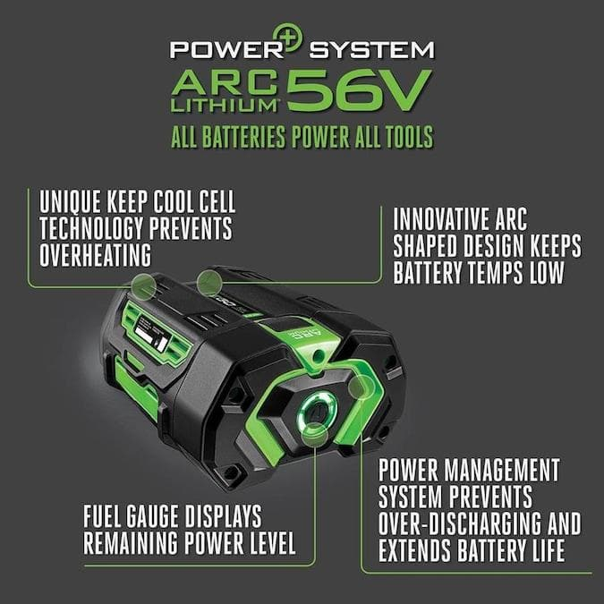 EGO Power+ 56-Volt 5Ah Rechargeable Lithium Battery with Fuel Gauge