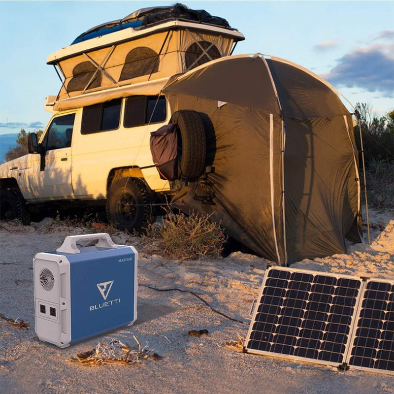 Solar Panel Charging the MAXOAK Bluetti EB150 Portable Solar Generator