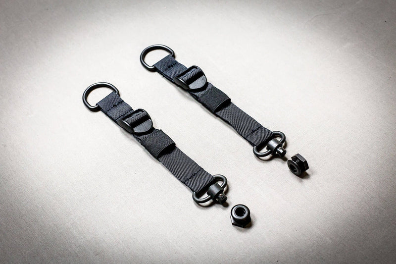 Push Button D-Ring + Push Button Loop-Around RMP Straps™ [Headrest Post & Seat Bottom]
