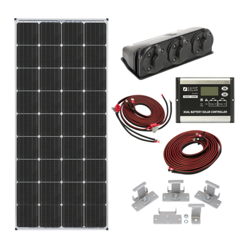 Zamp Solar KIT2015 170 Watt Dual Battery Bank Roof Mount Kit