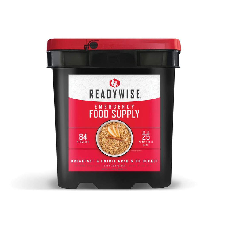 ReadyWise 84 Serving Breakfast & Entrée Grab and Go Bucket