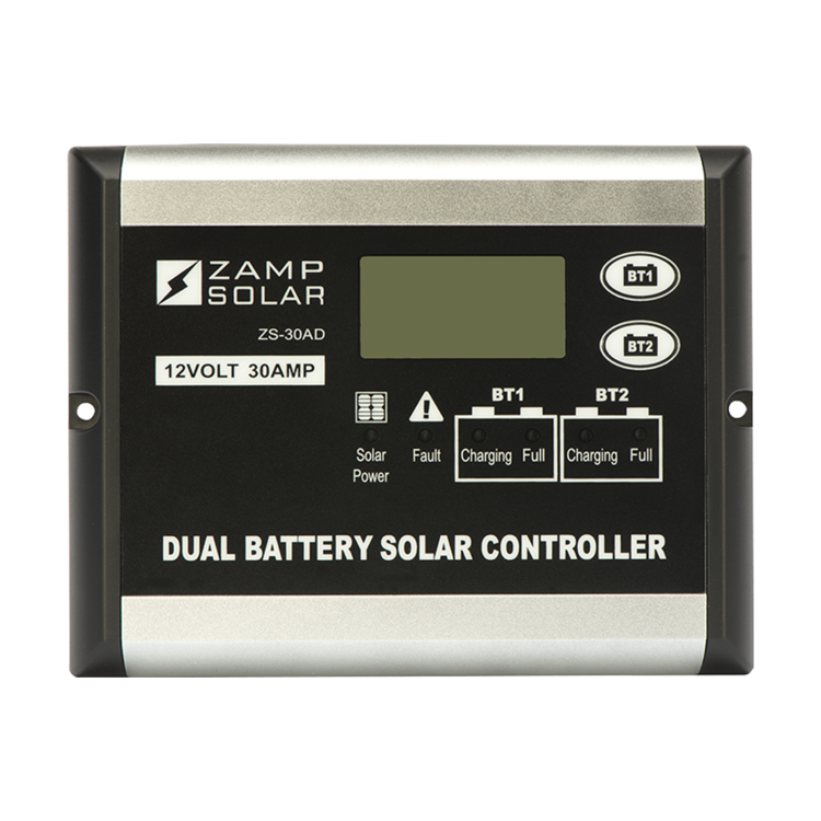 Zamp Solar ZS-30AD 30 Amp Dual Battery Bank 5 Stage PWM Charge Controller
