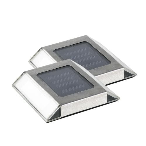 Nature Power Solar Powered Stainless Steel Pathway Lights 2 Pack - 21070