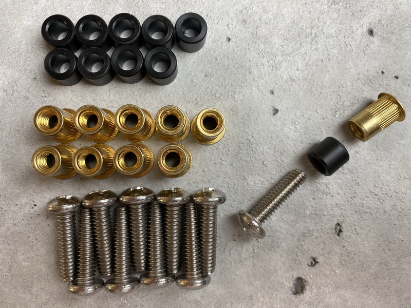 RMP Fastening Kit™ - Threaded Rivet Nuts + Nylon Spacers + Bolts
