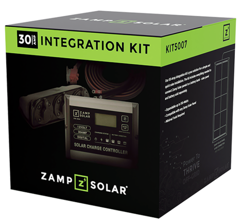 Zamp Solar 30 Amp Obsidian Integration Kit with Charge Controller