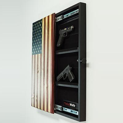 Tactical Walls Concealment Flag of Valor with Magnetic Lock