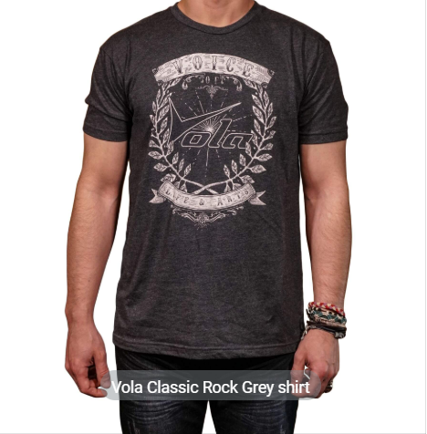 Vola Vintage Rocker T Shirt - Grey