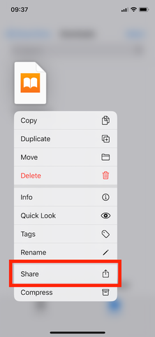Adding EPUBs to iOS with Safari 07