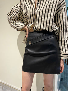 Vegan Leather Skirt Black