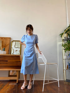 The Siena Dress Aura Blue
