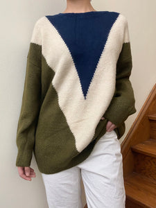 Statement Pullover Green Mix