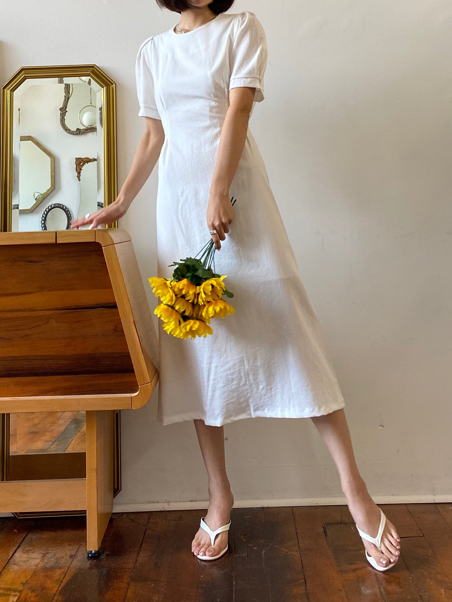 The Siena Dress Ivory