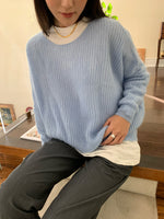 Load image into Gallery viewer, Le Brunch Sweater Baby Blue