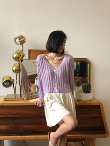 Lavender Button-Up