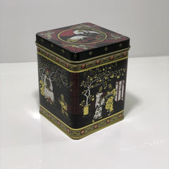 Black Japanese Design Tea Caddy