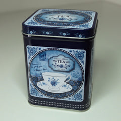 Classic Blue Design Tea Caddy