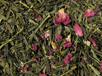 Green Tea with Rose Petals