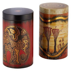 Tea Caddy African Life Design