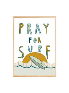 Pray for Surf - A4