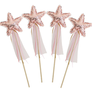 Star Wand Sequin Rose Gold