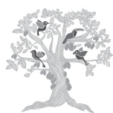 Kakaw tree with birds