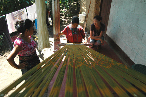 Backstrap weaving natural dyes
