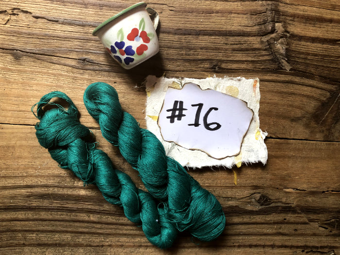 Naturally-dyed Cotton Thread: bundle of 5 colors