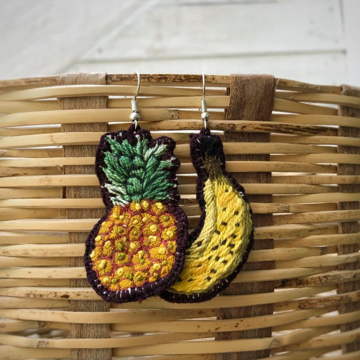 Banana + Piña Earrings