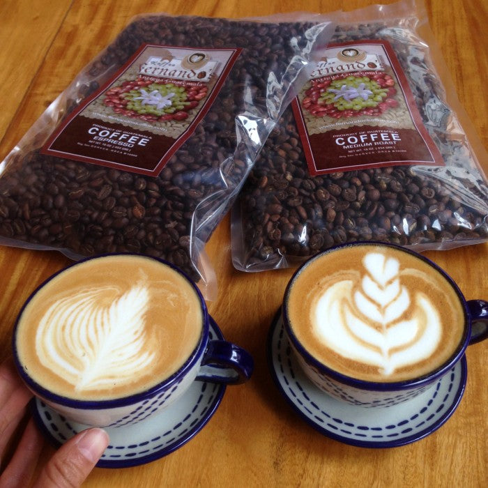 The Coffee Bundle: 2 Cappuccino Sets + 1lb Guatemalan Coffee