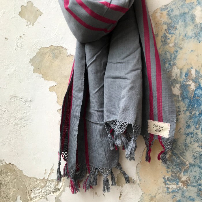 Grey Footloom Scarf