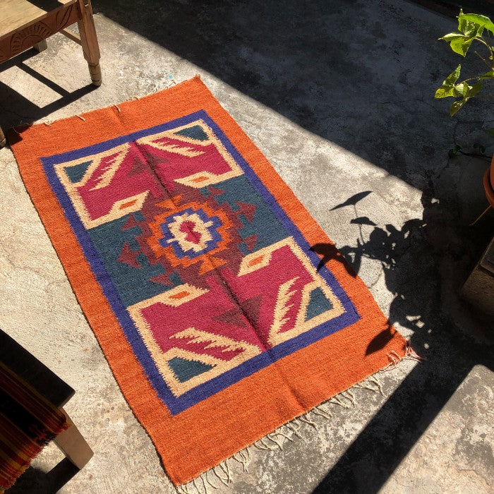 Medium Wool Rug: Colorful Geometric Shapes 3