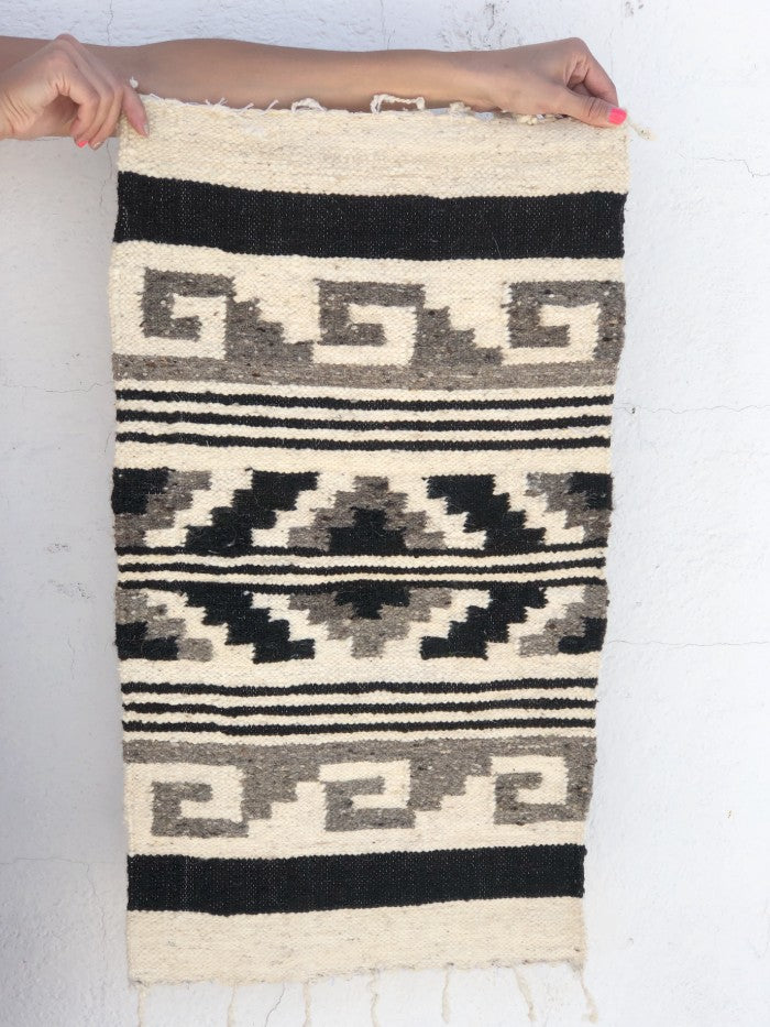 Small Wool Rug: Waves in Brown