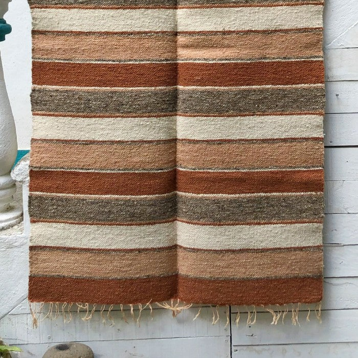 Medium Wool Rug: Autumn Stripes