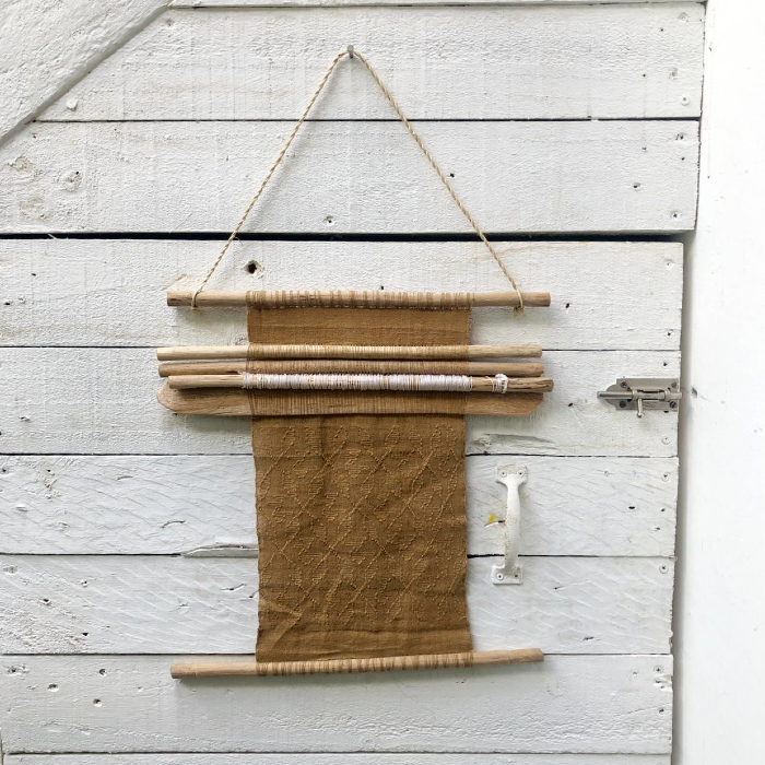 Mini picbil loom in naturally-dyed beige