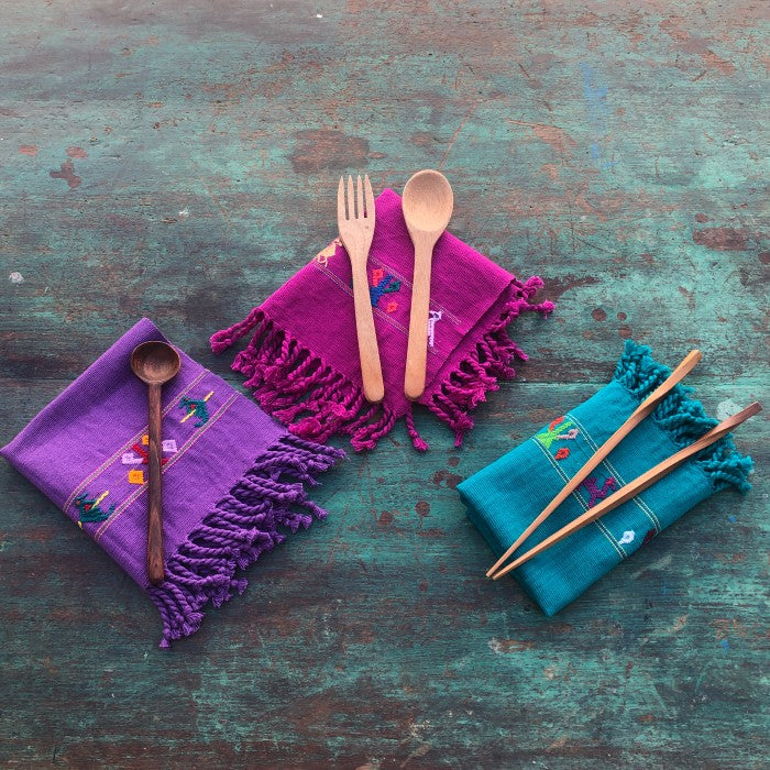 Napkins 1: Colorful set of six